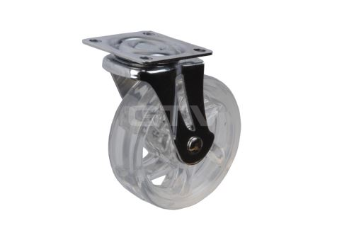 Kolečko SHIFT s kovovou plotnou pr.50mm - TRANSPARENT (26194)