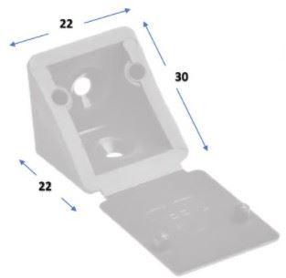 Úhelník plastový 20x20mm - Slonová kost (alt. 27x27)
