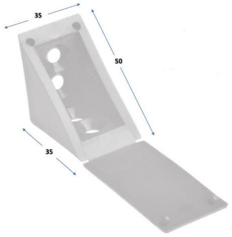 Úhelník plastový 35x35 - Slonová kost (alt 31x31)