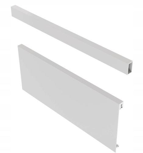 """Axis Pro - přední panel s relingem """"C"""" a """"D"""" 1200mm v.110mm - bilý"""