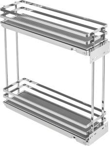 Movix Pro koš dvojitý boční Levý 200mm chrom s tlum. (45362)