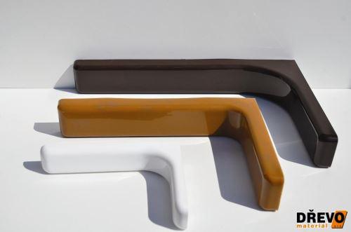Policová konzola s krytem 80x120mm - Ořech výprodej