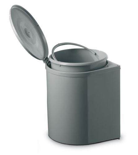 Odpadkový koš Single INOXA kulatý 12l - Šedý