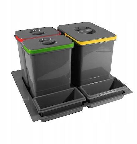 Odpadkový koš PRACTIKO 600 15l+2x7l+2x miska