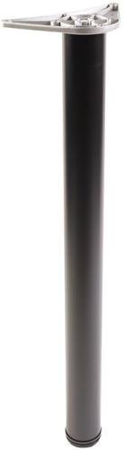 Stolová noha 710mm pr.60mm ALU - Černá mat