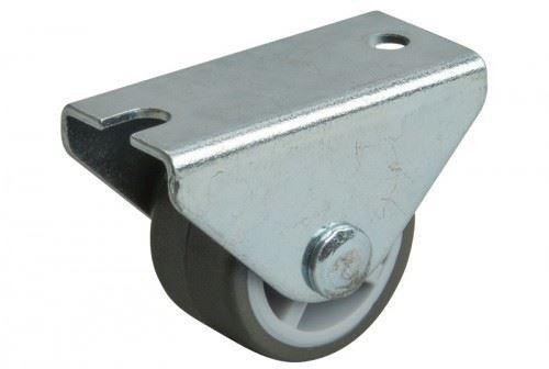 Kolečko pevné pogumované pr.30 mm šedé/zn (alt 14235)