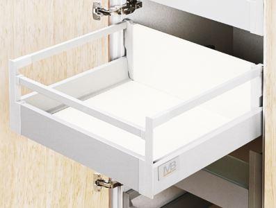 MB modern box SQ 450mm + RELING bílý B střední