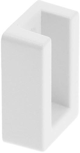 Podpěra šatní tyče bílá ZnAl/PVC (pro 51571)