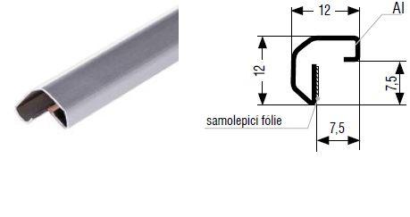 Zasklívací profil B36/Al 3m - Hliník výprodej