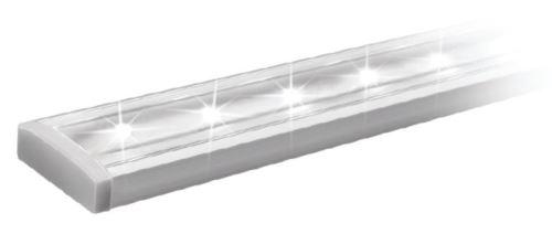 Lišta LED naložená. GLAX 2m + kr. mléčná