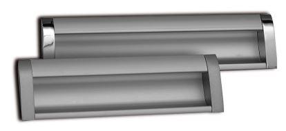 Úchytka UA-326 zadlabací 128 mm - hliník/chrom
