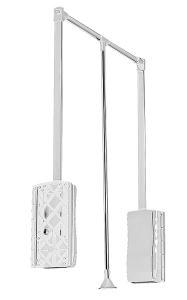 Výklopný věšák bílý korp. 875-1200 nost.12kg  pantograf