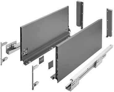 AXIS Pro 550mm antracit - nejvyšší D (výška 200 mm)