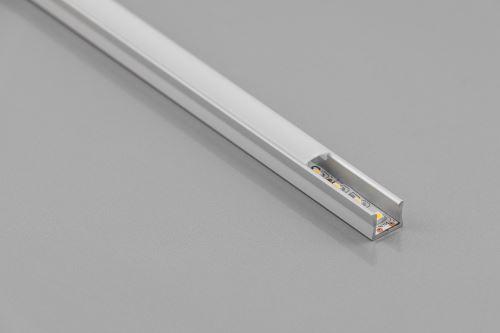 Lišta LED naložená MIKRO GLAX 2m + kr.mléčná pro LED 5mm