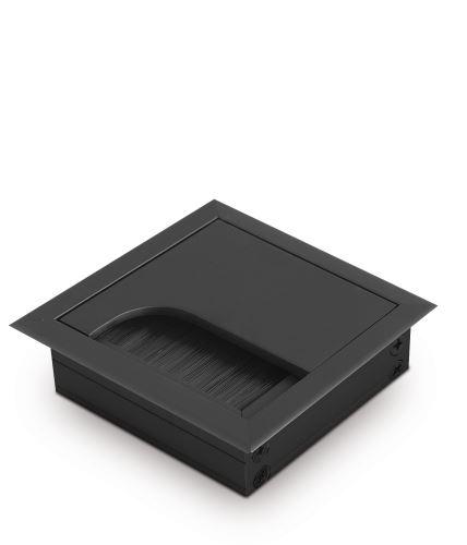 Průchodka MERIDA malá 80x80 kov - černá mat