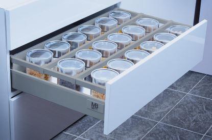 MB modern box SQ 400mm šedý - nízký A