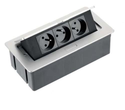 El. zásuvka SOFT Aluminium 3x 230V 16A