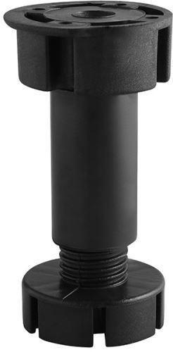 Soklová noha FEET GTV černá 100mm (87-120mm) 3dílná