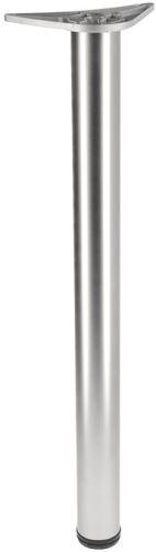 Stolová noha 710mm pr.60mm ALU - Nikl mat výprodej