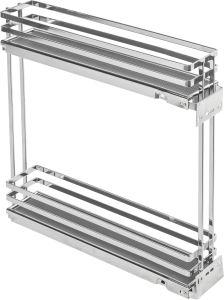 Movix Pro koš dvojitý boční Levý 150mm chrom s tlum. (45359)