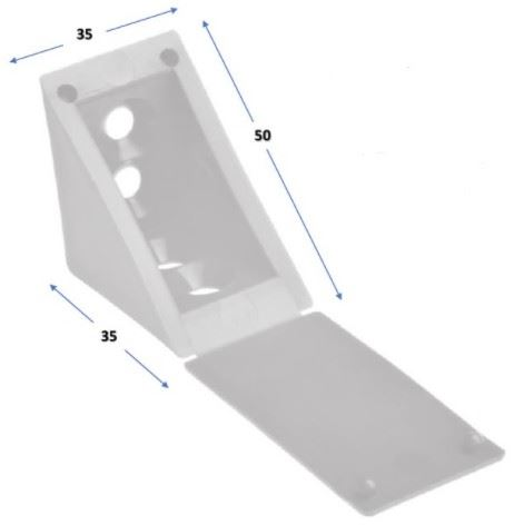 Úhelník plastový 35x35 - Tmavě hnědý (alt. 31x31)