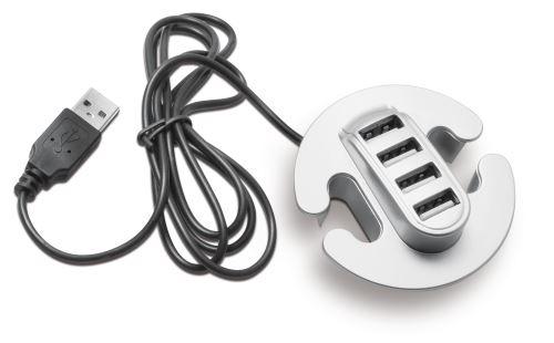 USB rozbočovač - 4 porty - stříbrná výprodej